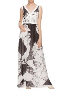 white-black-printed-low-back-maxi-dress