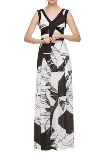 black-white-printed-maxi-dress