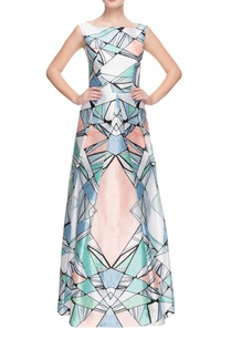 multi-colored-geometric-printed-gown