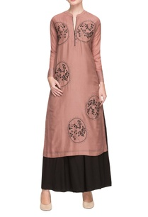 dusky-pink-embroidered-kurta