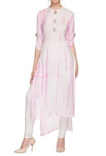 white-pink-tie-dyed-high-low-kurta