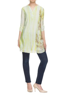 white-lemon-yellow-tie-dyed-kurta