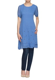 denim-blue-embellished-layered-kurta