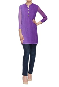 lavender-kurta-with-pintucks
