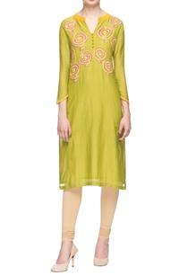 light-green-kurta-with-woolen-embroidery