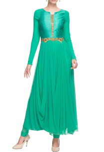 sea-green-embellished-kurta-churidar