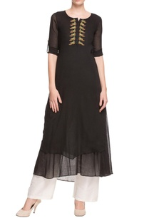 black-long-kurta-with-embroidered-details