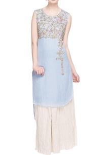 pastel-blue-embroidered-high-low-kurta-palazzo
