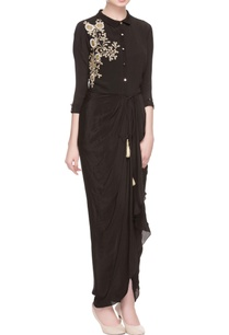 black-embroidered-maxi-dress