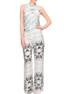 white-printed-halter-neck-jumpsuit