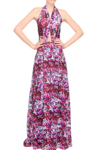 multi-colored-rose-print-halter-dress