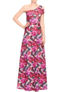 multi-colored-gown-with-rose-prints