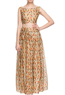 ivory-floral-printed-skirt-with-crop-top