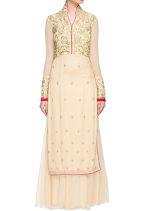cream-gold-embellished-anarkali-with-skirt