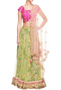 pink-and-green-floral-lehenga-set
