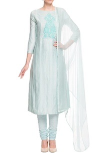 ice-blue-kurta-set-with-thread-embroidered-yoke