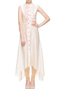 peach-high-low-embroidered-kurta