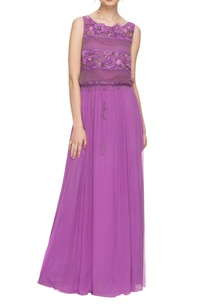 lavender-embellished-maxi-dress-with-drawstrings