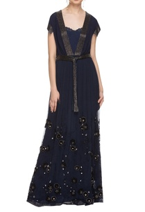 navy-blue-embellished-gown-with-waistband