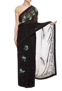 black-embellished-sari-with-cutout-details
