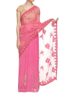 pink-embroidered-sari-with-scalloped-drape