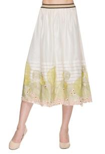 ivory-midi-skirt-with-threadwork-applique