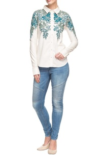 white-shirt-with-blue-floral-embroidered-motifs