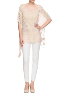 light-beige-tunic-enhanced-with-floral-applique