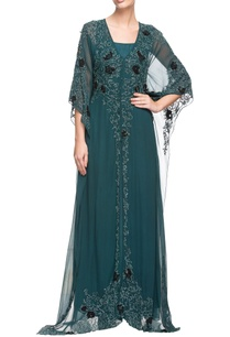 teal-embroidered-kaftan-maxi-dress