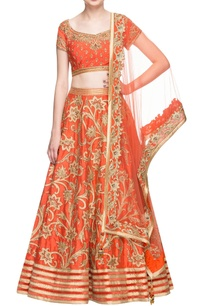 orange-embroidered-lehenga-set