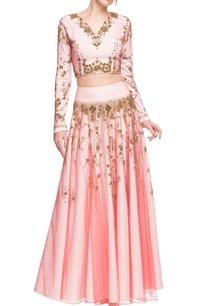 pastel-pink-embellished-open-back-crop-top-skirt