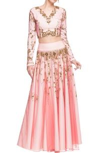 pastel-pink-embellished-open-back-crop-top-skirt