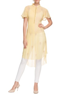 pastel-yellow-pintuck-embroidered-kurta