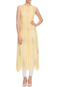 pastel-yellow-pintuck-kurta
