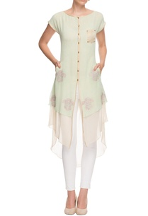 light-green-embroidered-layered-kurta