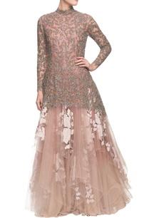 dusty-pink-embellished-kurta-with-skirt