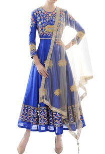royal-blue-embroidered-anarkali-with-dupatta