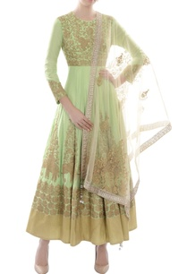 mint-green-elephant-motif-anarkali-with-dupatta