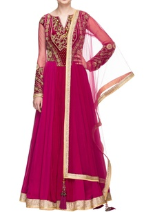 pink-and-cheery-embroidered-anarkali-set