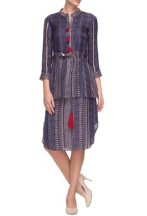 navy-blue-multi-print-dress-with-drawstrings