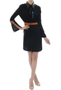 black-belted-shirt-dress