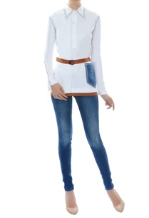 white-top-with-belt-patch-pocket