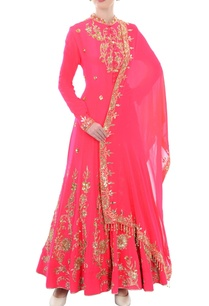 pink-gold-sequin-embellished-anarkali-with-dupatta