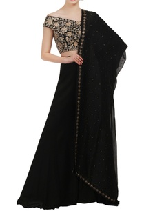 black-wide-neck-embroidered-crop-top-and-lehenga-set