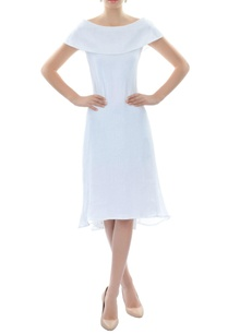 white-boat-neck-dress