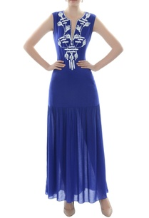 royal-blue-embroidered-maxi-dress