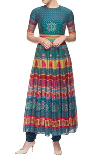 multicolored-key-hole-kurti