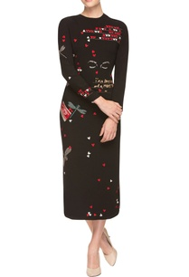 black-sheath-dress-with-quirky-hearts-and-dragonfly-prints