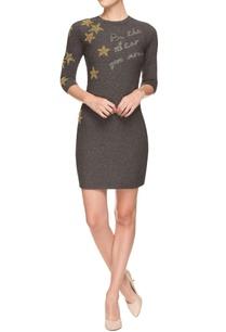 grey-bead-work-embellished-sheath-dress