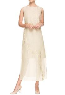 off-white-floral-applique-dress